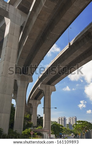 highway interchange in Hong Kong  - stock photo