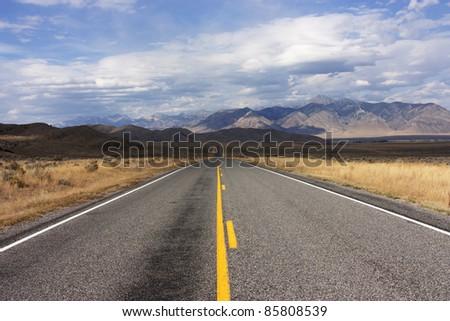 Highway 33 near Howe Idaho, Custer County, Challis Salmon National Forest - stock photo