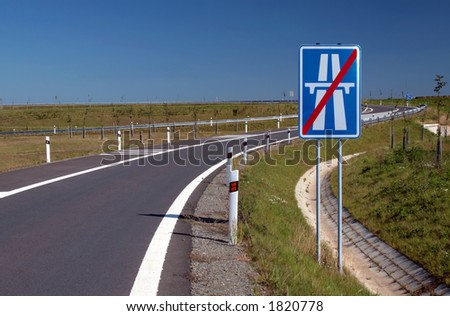 Highway sign - stock photo