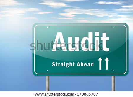 Highway Signpost with Audit wording - stock photo