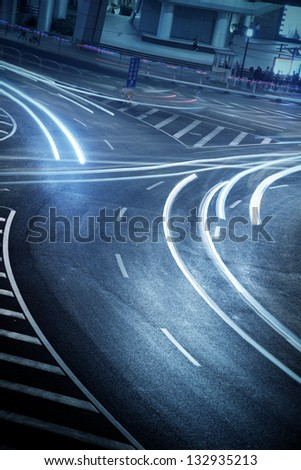 highway traffic - stock photo
