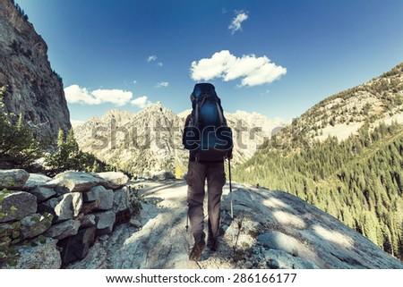Hike - stock photo