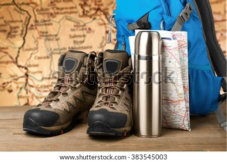 Hiking. - stock photo