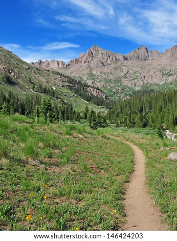 Hiking and Backpacking in the Rocky Mountains - stock photo