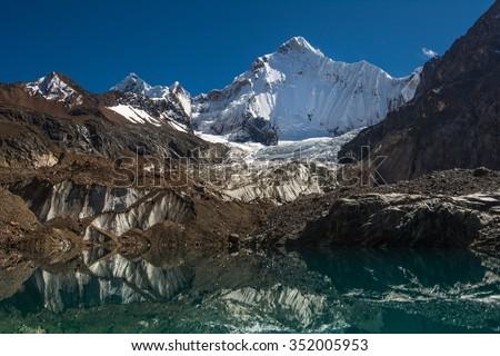 Hiking in Peru, Cordillera Blanca - stock photo