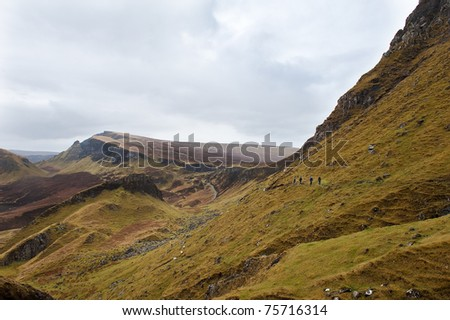 Hiking on the Isle of Skye - stock photo