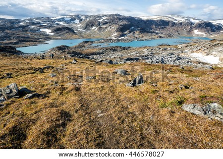 Hiking Trail in Northern Sweden - stock photo