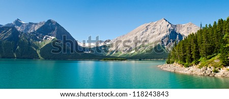 Hiking views Kananaskis Lakes area Peter Lougheed Provincial Park - stock photo