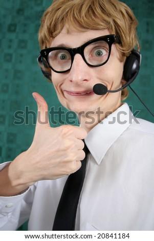 Hilarious customer service - stock photo