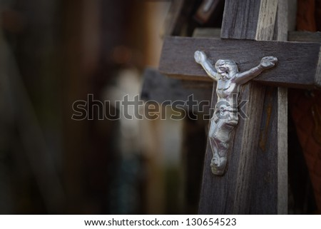 Hill of Crosses, Lithuania - stock photo