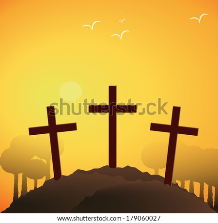 hill of resurrection - stock photo