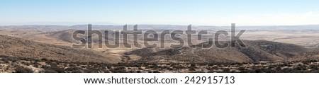 Hills near Amasa, Israel                                - stock photo