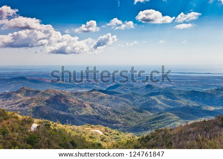 Hills of Cuba - stock photo