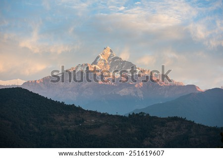 Himalaya mountains, Nepal. - stock photo