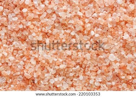 Himalaya Pink Salt Background - stock photo