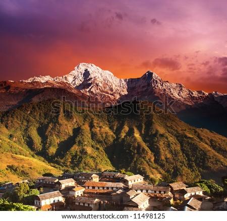 Himalayan fantasy - stock photo