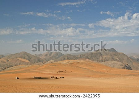 Himba Village - stock photo