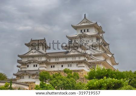 Himeji Castle, one of Japan's UNESCO World Heritage Sites - stock photo