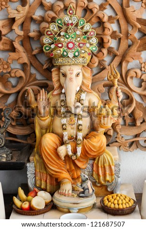 Hindu God Ganesha - stock photo