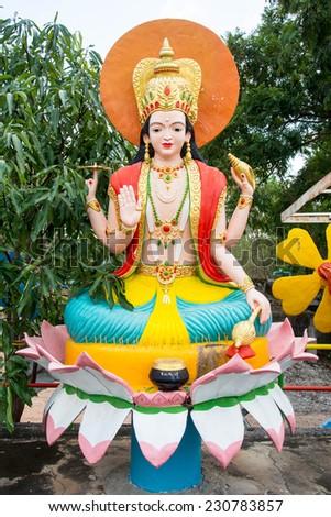 Hindu god statue - stock photo