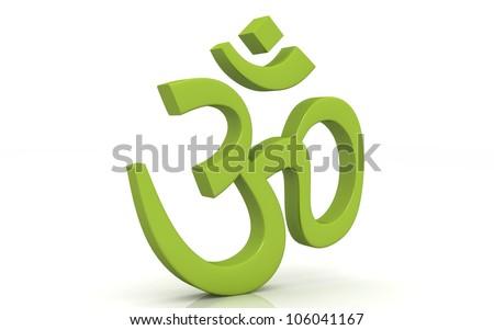 Hinduism symbol isolated on white background .ohm - stock photo