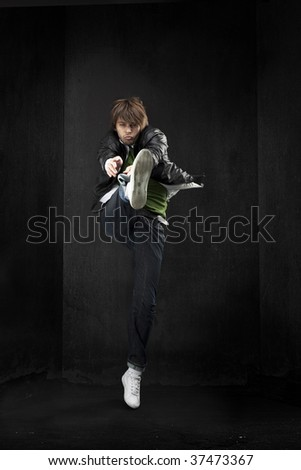 hip-hop dancer - stock photo