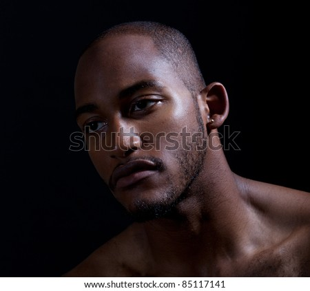 Hip muscular black man - stock photo