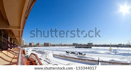 Hippodrome in winter. Moscow, Russia - stock photo