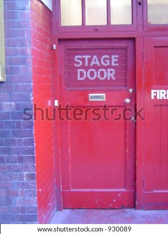 Hippodrome Stage Door - stock photo