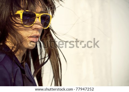 Hipster Girl Fashion - stock photo