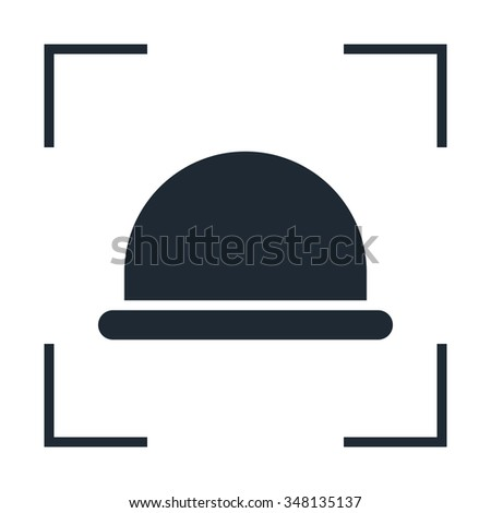 hipster hat icon - stock photo