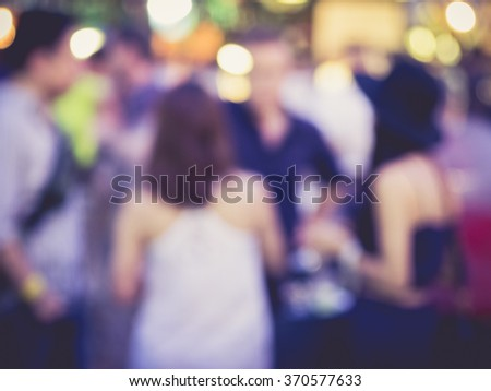 Hipster in Festival Event Party Blurred Background - stock photo