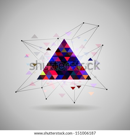 hipster Space triangle mystic galaxy astral triangle .bitmap version  - stock photo