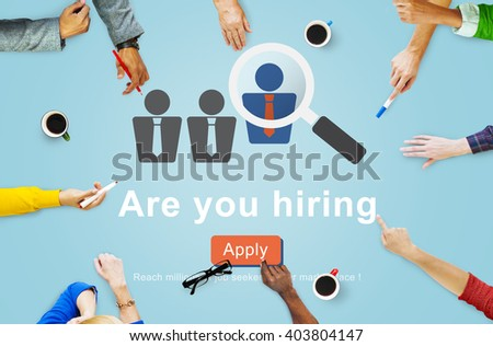 Hiring Human Resources Job Career Occupation Concept - stock photo