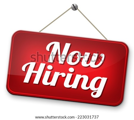 hiring now new employer job opening or offer search for jobs vacancy help wanted  - stock photo