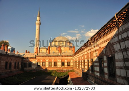 Hisar mosque in late afternoon, Izmir, Turkey - stock photo