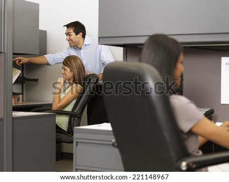 Hispanic businesspeople working - stock photo