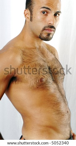 Hispanic Male Torso - stock photo