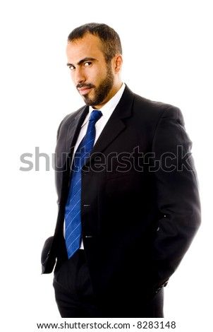 Hispanic Man in a Suit - stock photo