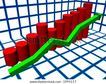 histogram and graph of growth what or - stock photo