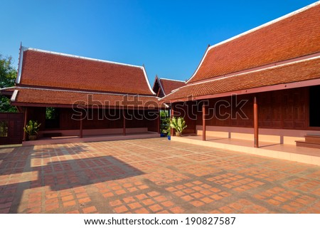 Historic and traditional Thai house style - stock photo