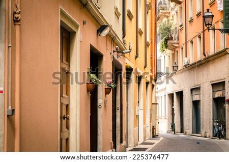 Historic architecture in Verona, Italy. - stock photo