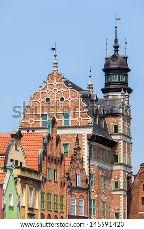 Historic buildings in Gdansk, Poland, Europe. - stock photo