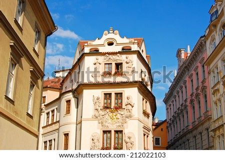 Historic buildings in old town of Prague city, Czech Republic - stock photo