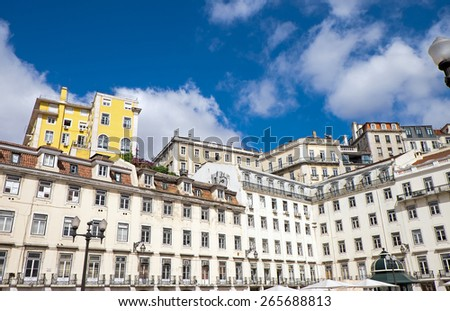 Historic buildings seen in Lisbon, Portugal - stock photo