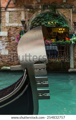 Historic canal in Venice - stock photo
