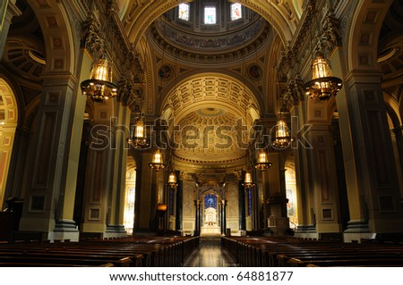 Historic Cathedral Basilica of Saints Peter and Paul -Philadelphia - stock photo