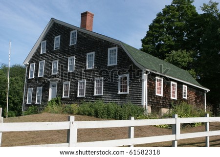 Historic Colonial Paine House in Coventry, Rhode Island - stock photo