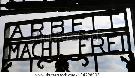 Historic Dachau Concentration Camp in Germany - stock photo