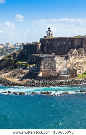 Historic El Morro Castle in San Juan, Puerto Rico - stock photo